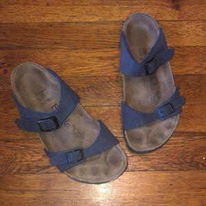 Birkenstock Betula sandals blue birkoflor 2 strap